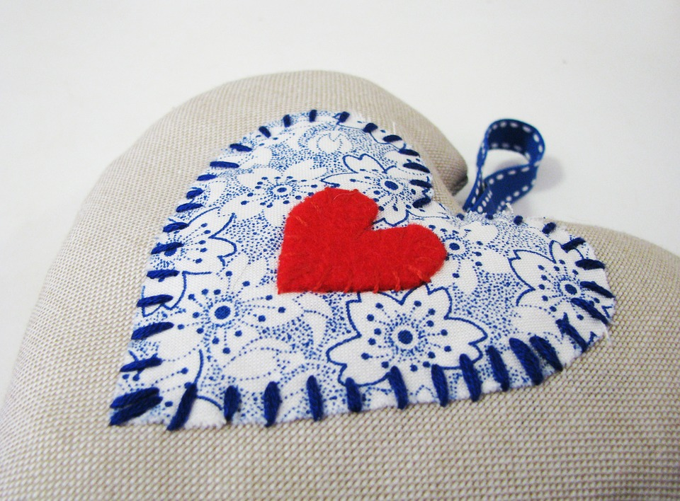 Pillow Case with Heart Accent