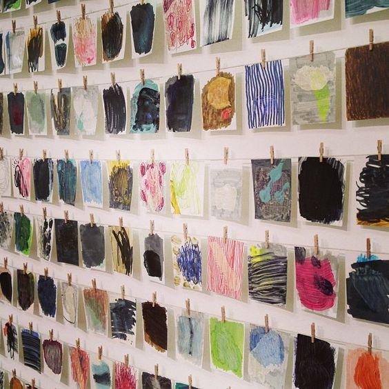 The hanging studio