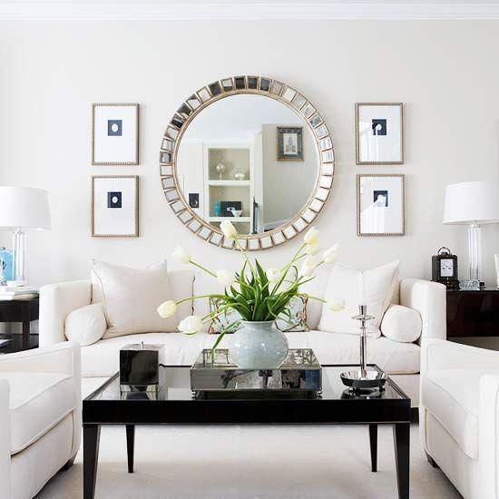 Decorative-framed round mirrors