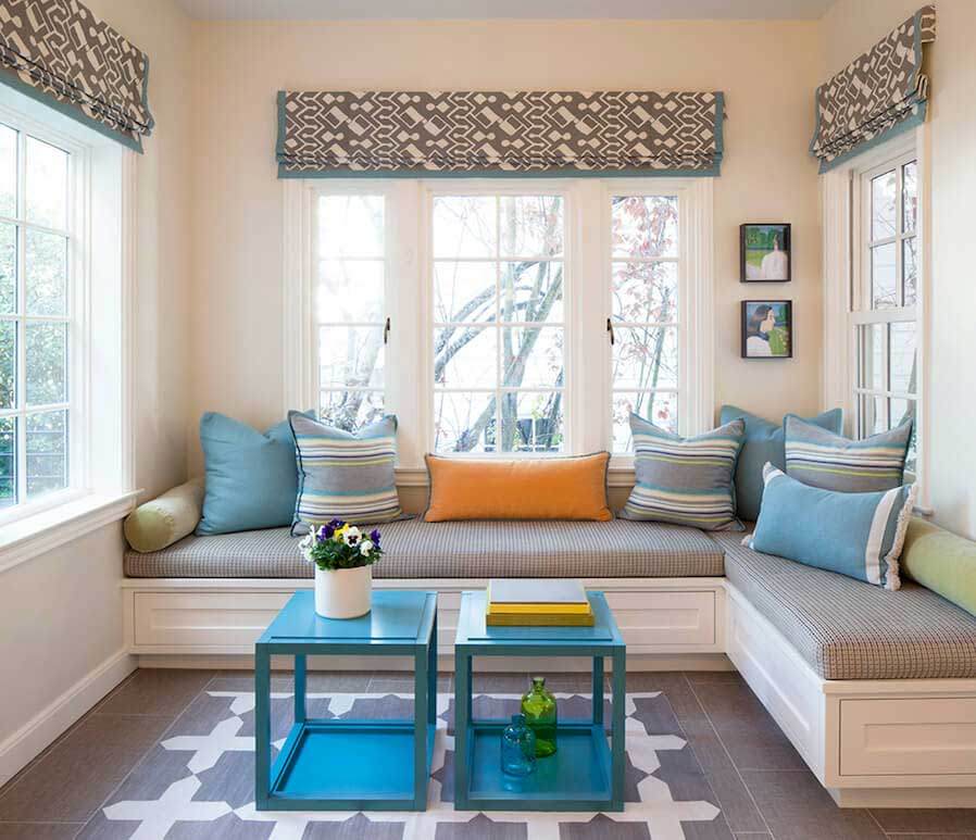 living area near a window