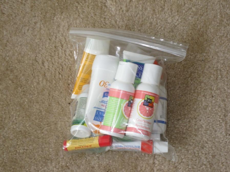 plastic bag or zip locks