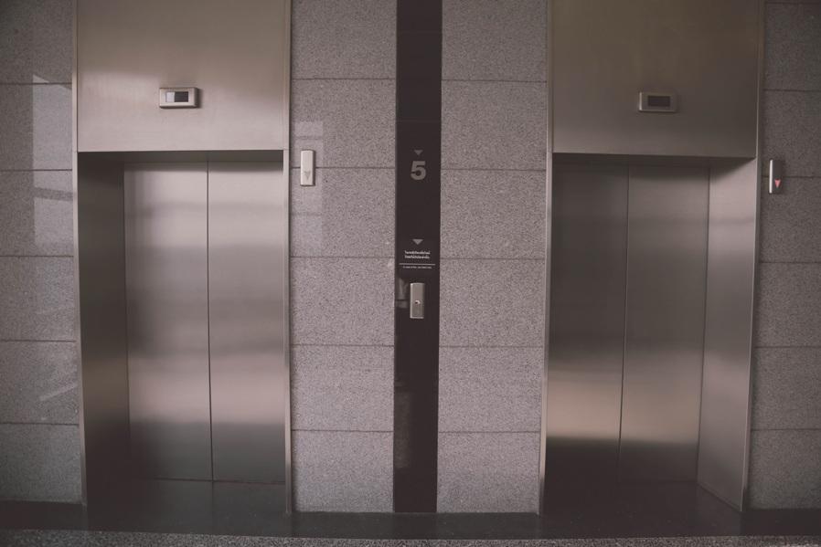 elevator dripping wet