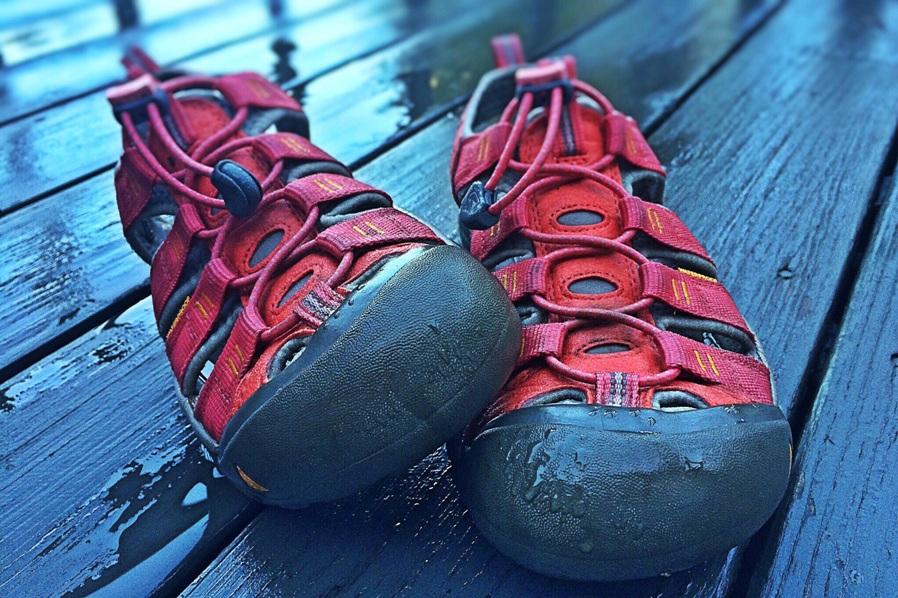 waterproof shoes or slippers