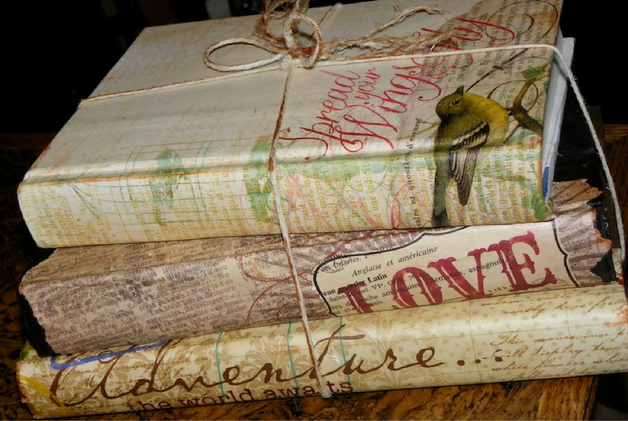 magnificent decoupage book covers