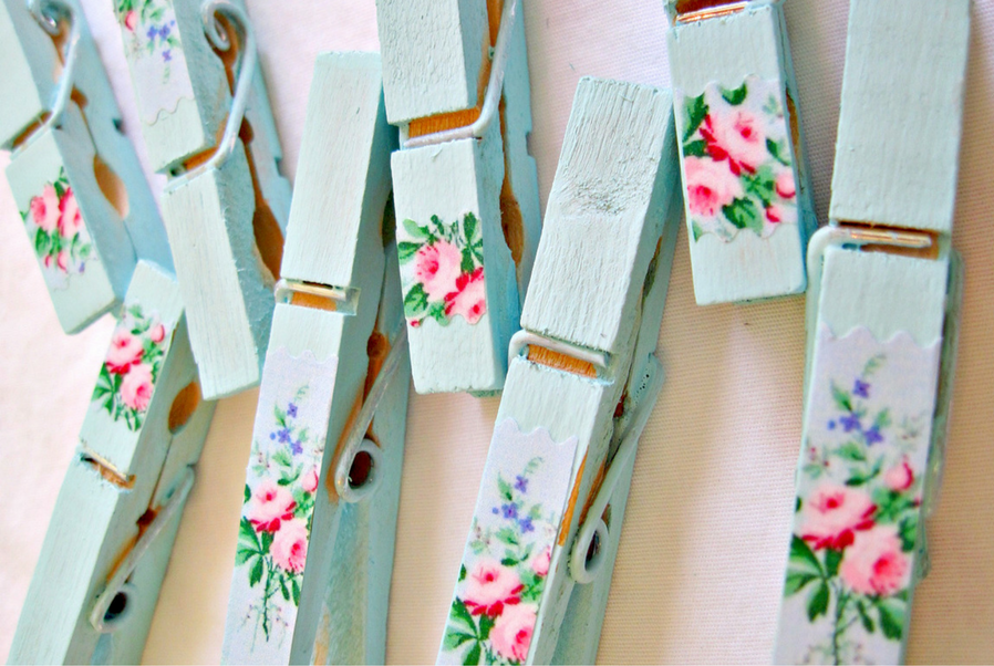 fancy clothespin for your vintage