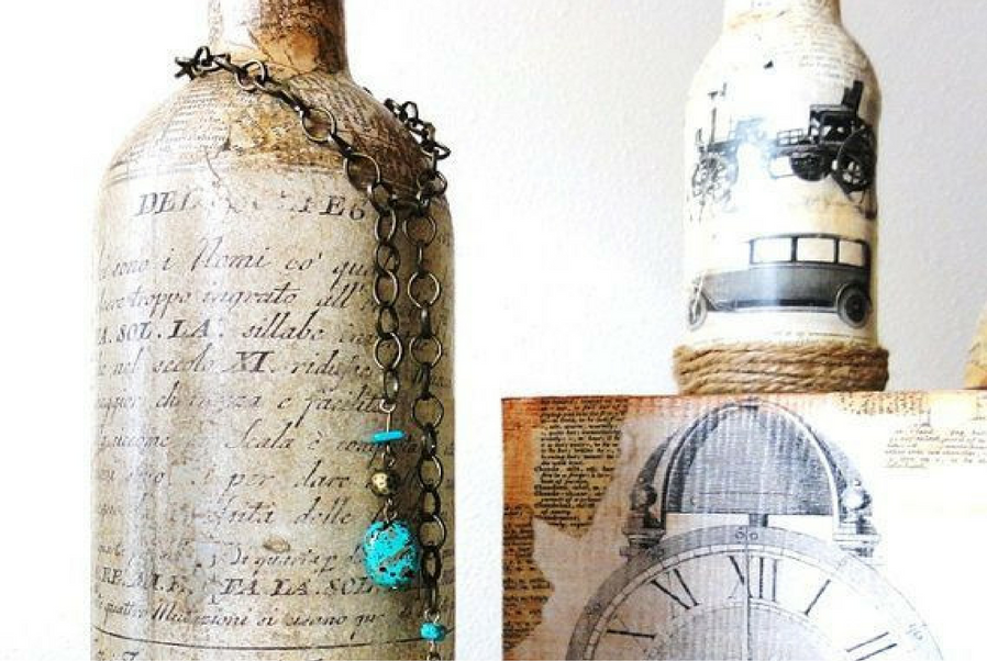 wine bottles to vintage decors