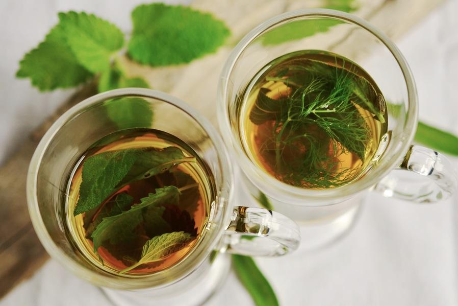drink lots of herbal tea