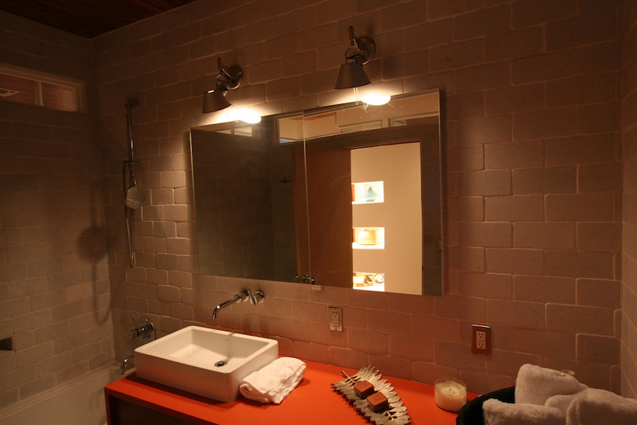 Condo bathroom perfect the lighting