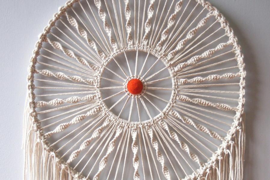 Macramé makeover Circular Wall Hangings