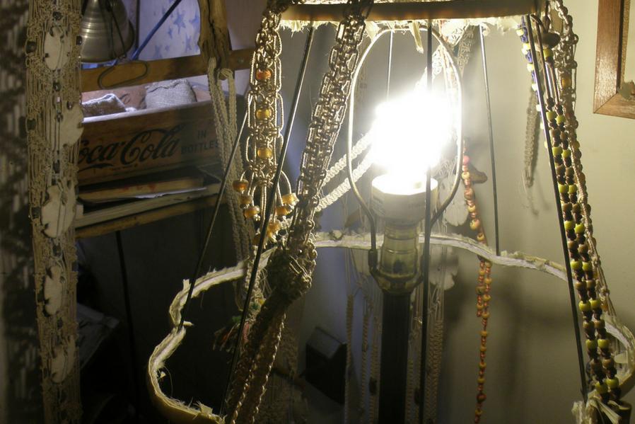 Macramé makeover Macramé makeover lampshade