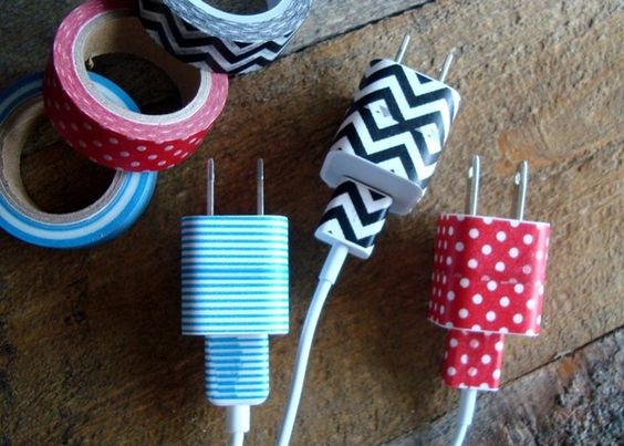 cords washi tape crafts