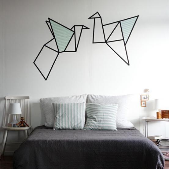 wall decor washi tape crafts