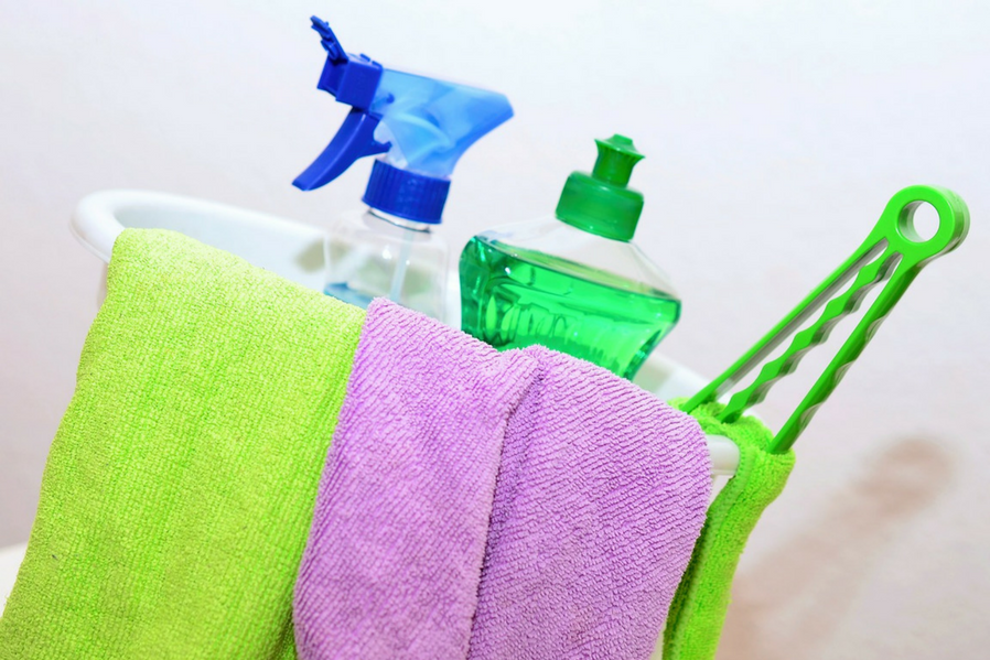 Condo Cleanup Keep Cleaning Supplies
