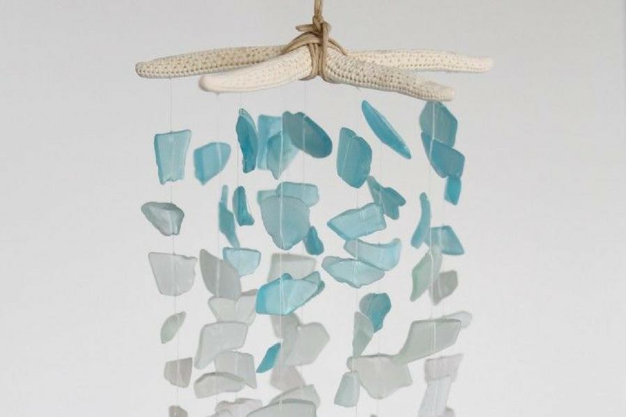 Summer Sea Glass Chandelier