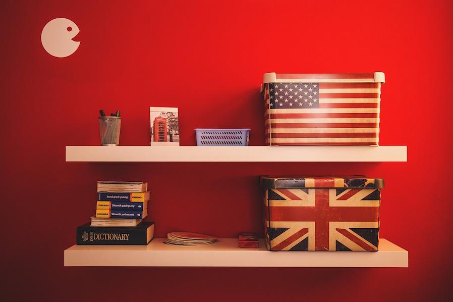 Bookworm Travel-themed Floating Shelf