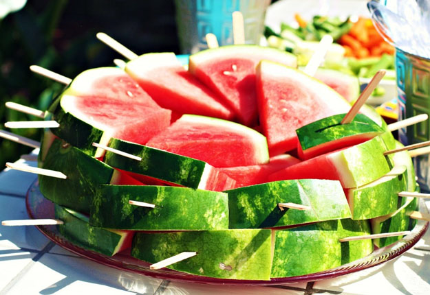 Party Snacks Watermelon Popsicles