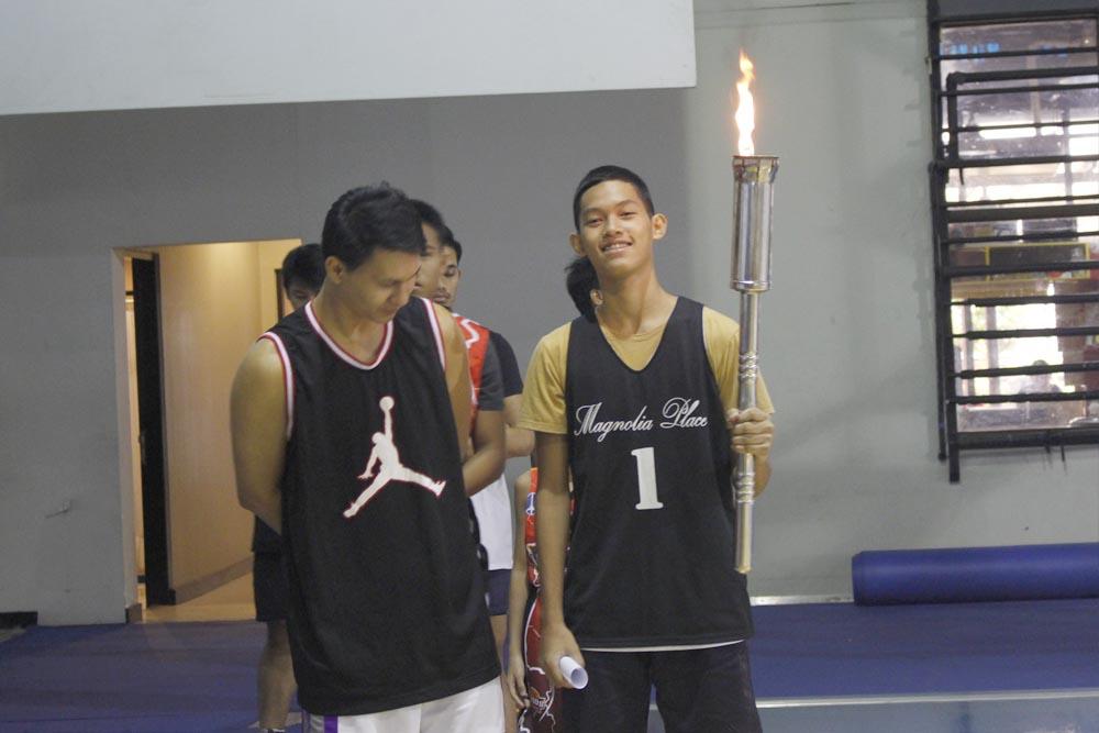 basket ball opening torch