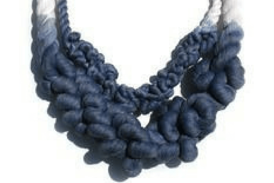 DIY Jewelry Dip-dyed Knotted Rope Necklace