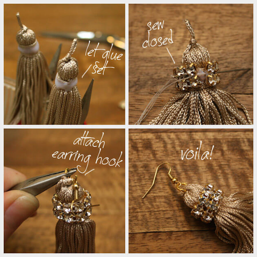 DIY Jewelry Glam Tassel Earrings