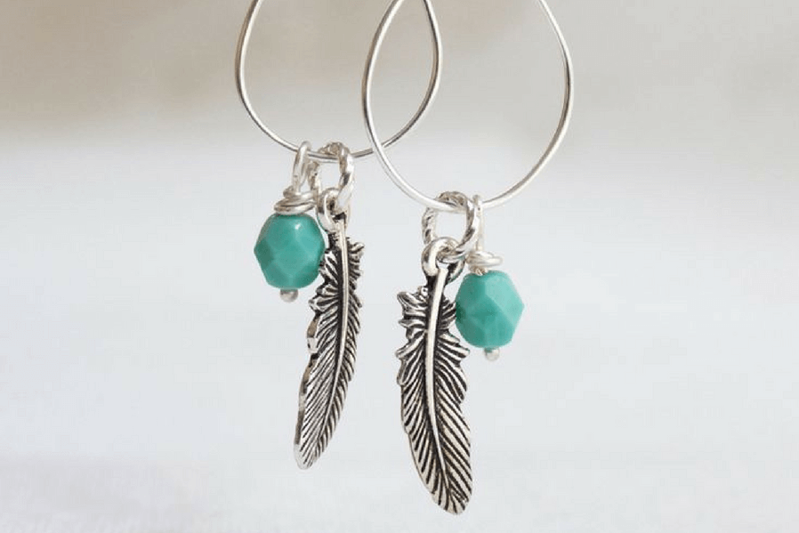 DIY Jewelry Wire-dropped Wire Earrings