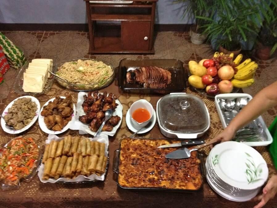 Filipino Noche Buena Food