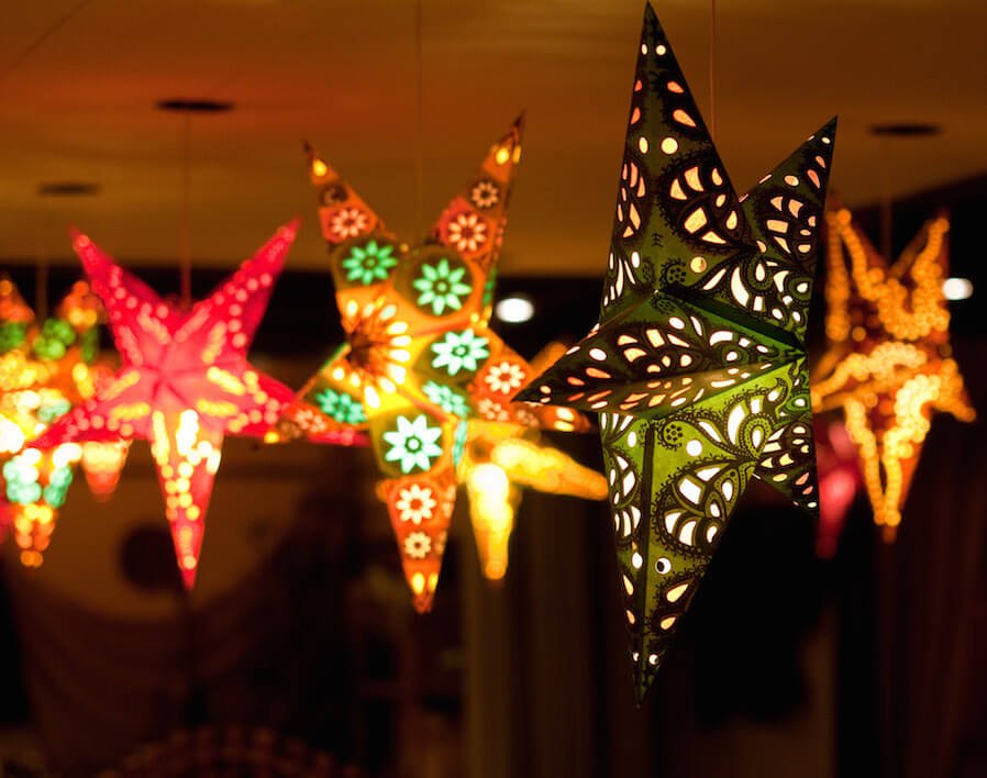 beautiful parol or Christmas lanterns