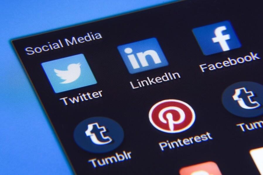 social media phone icons