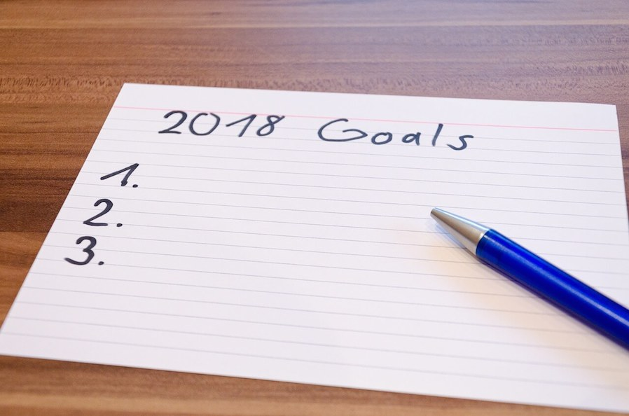 2018 goals empty list paper