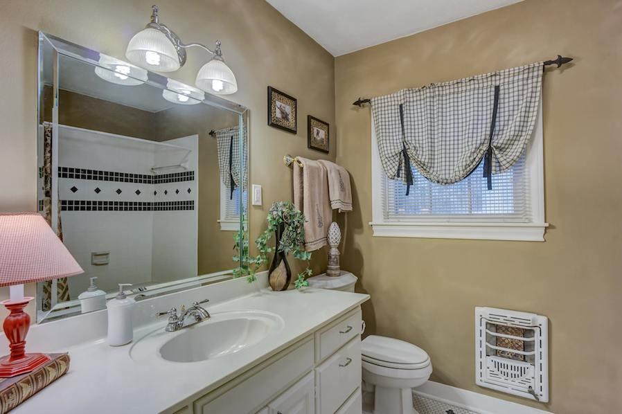 clean batroom interior