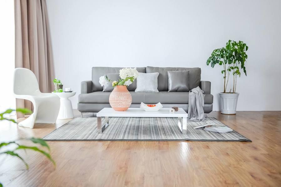 gray interior room design idea