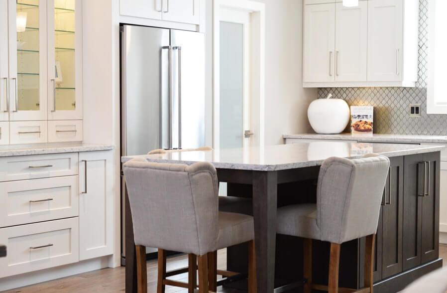 interior kitchen with multipurpose kitchen Island