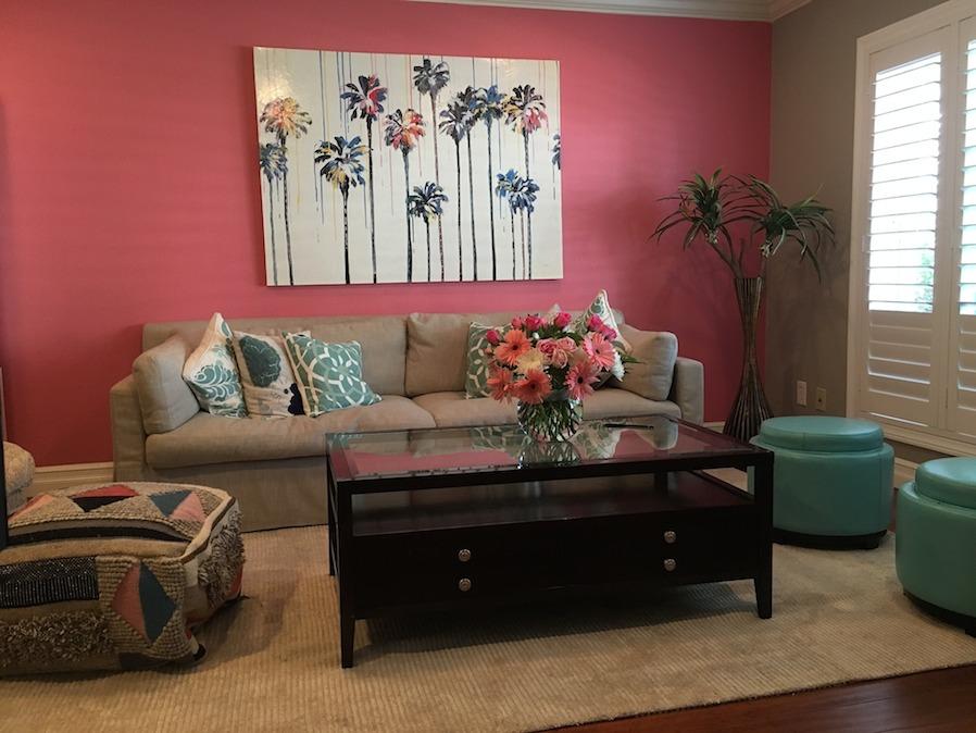 pink home interior design
