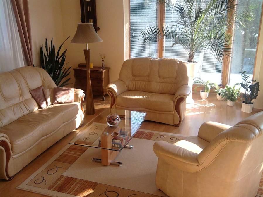warm beige living room idea