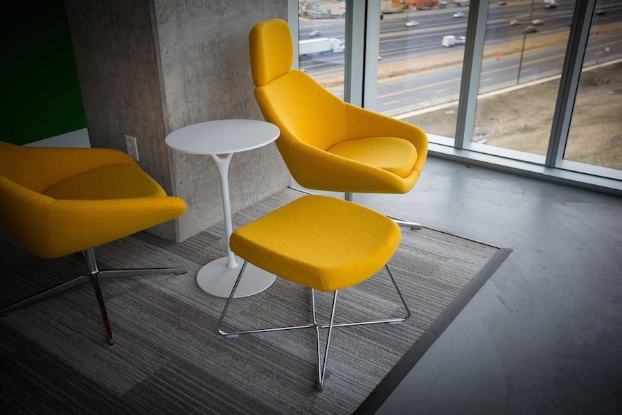 yellow seat furniture