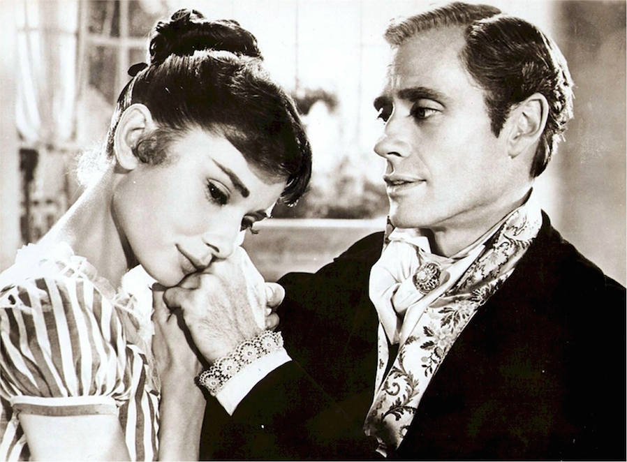 audrey hepburn and el ferrer classic photo