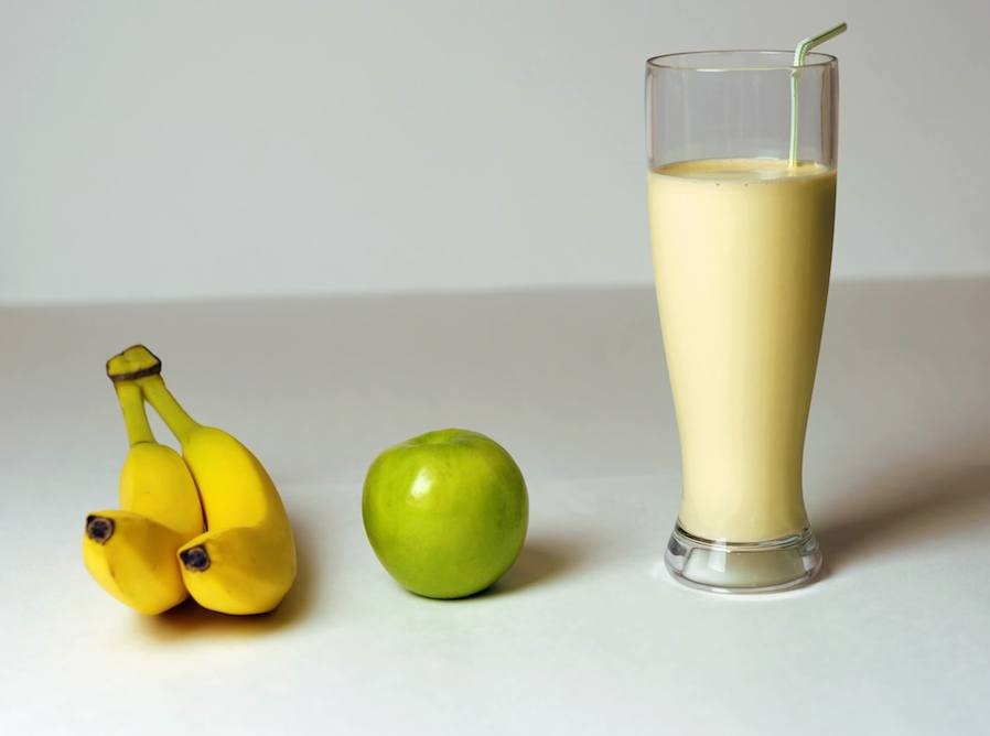 banana apple and milk