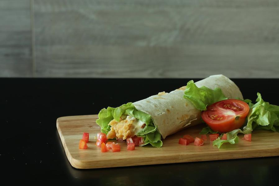 chicken vegetable wrap sandwich