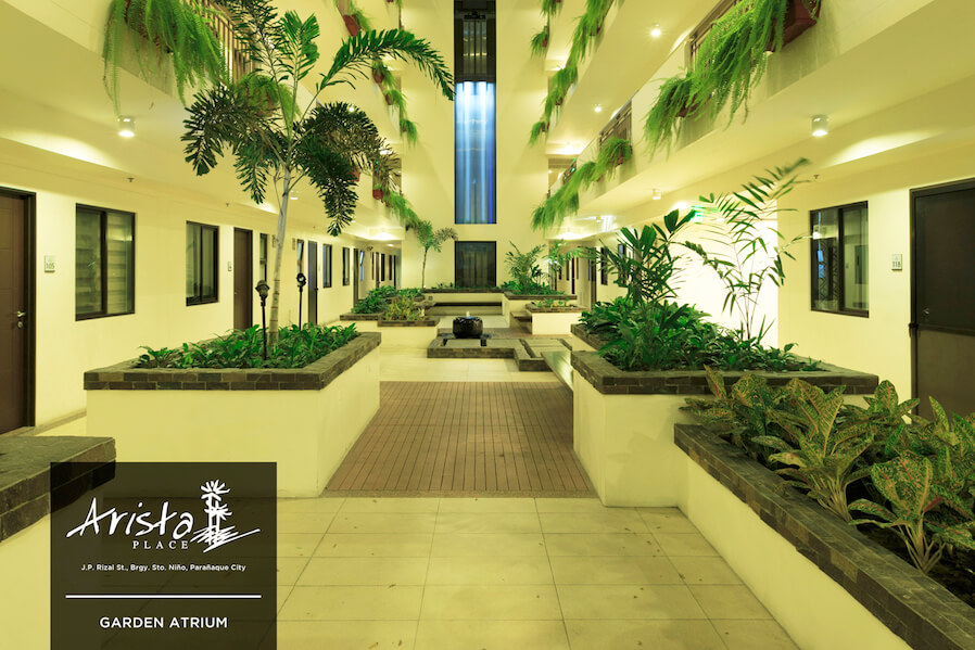 Arista Place Garden Atrium | DMCI Homes