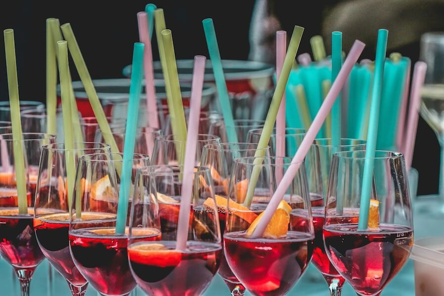 party colorful cocktails