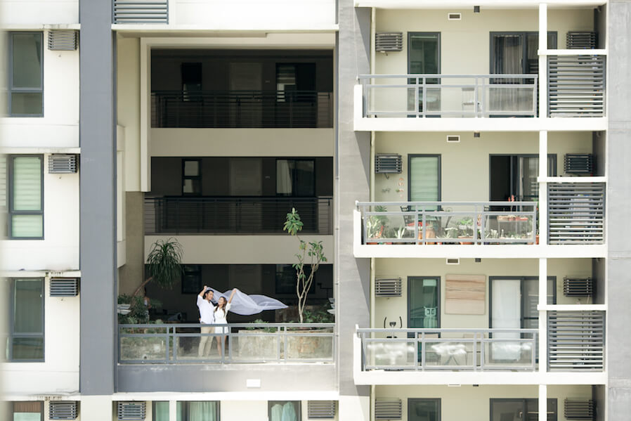 Couple in DMCI Homes balcony