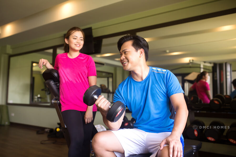 DMCI Homes Lifestyle Couple working out in Gym