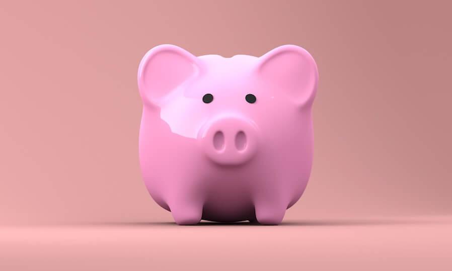pink piggy money bank