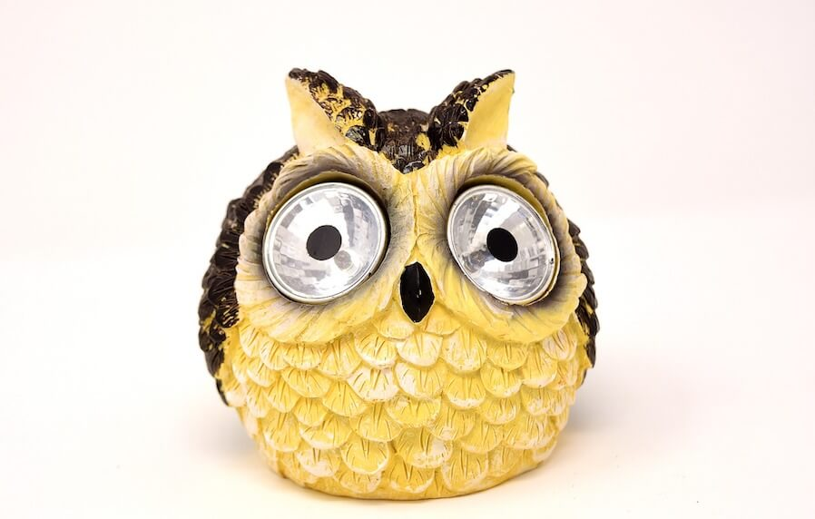 solar lantern owl design