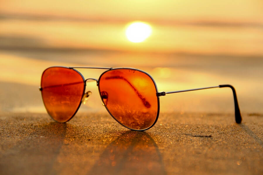 sunglass and sunset