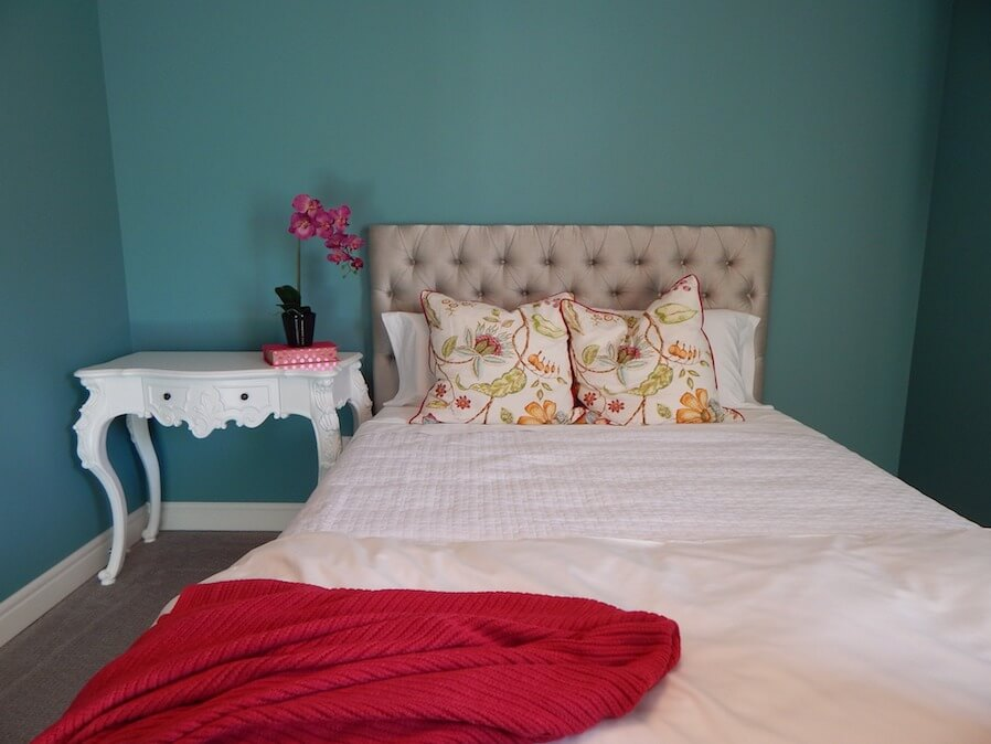 White bed and furniture bedroom