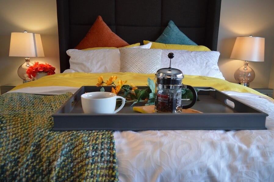 bright color scheme bedroom