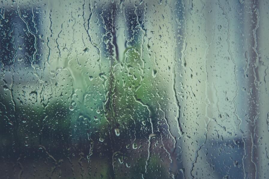 mirror during rain