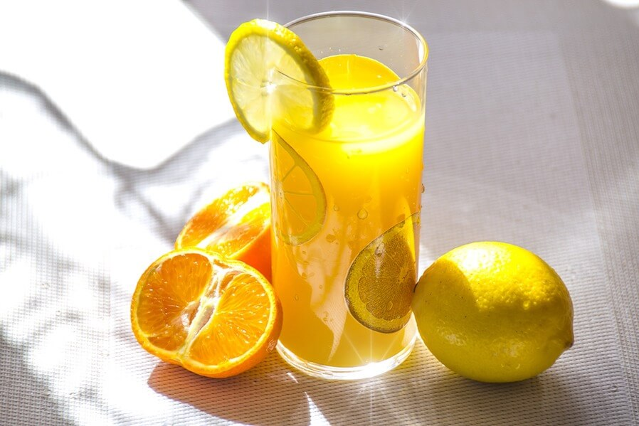 citrus orange and lemon juice