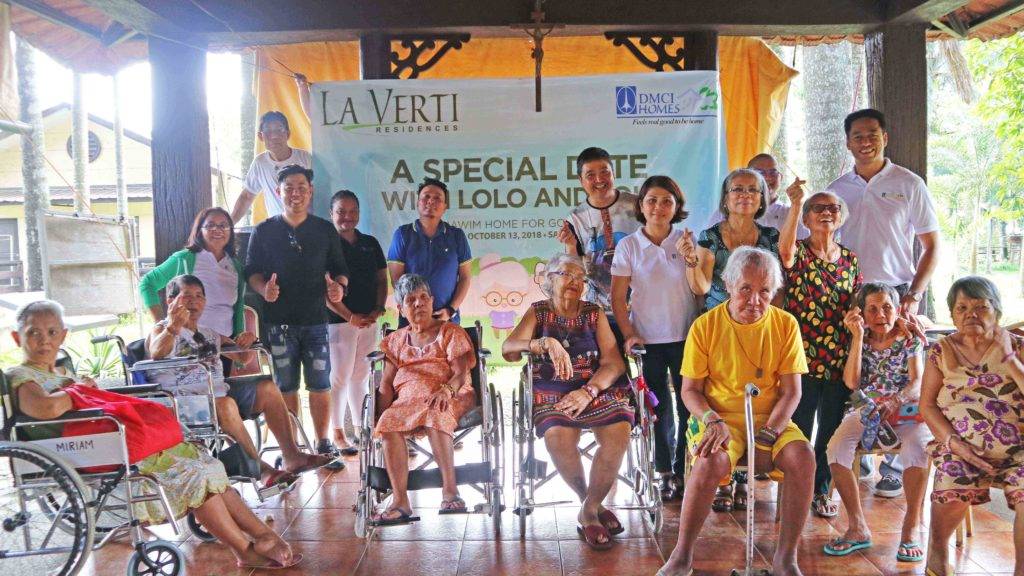 A special date with the elderly from Anawim Home for the Abandoned Elderly. Photo courtesy of DMCI Homes