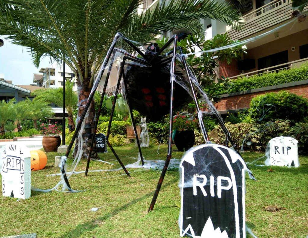 Would you dare go under this giant spider?